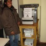 2009: Donazione fotocopiatrice al centro di salute di Livitaca